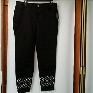 Women's Baccini embellished Stretch Ankle Jeans:10